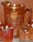 Butterfly and Berry: Regular Pitcher Marigold by Fenton