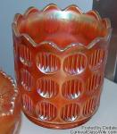 Diamond and Rib: Jardiniere Marigold by Fenton