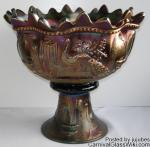 Peacock at the Fountain: Punch Bowl Amethyst by Northwood