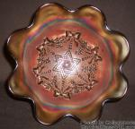 Star of David and Bows: Bowl Ruffled Purple by Northwood